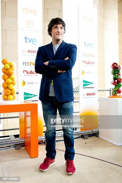 Jordi Cruz attends 'Master Chef' photocall during FesTVal Murcia 2015 on March 24 2015 in Murcia Spain