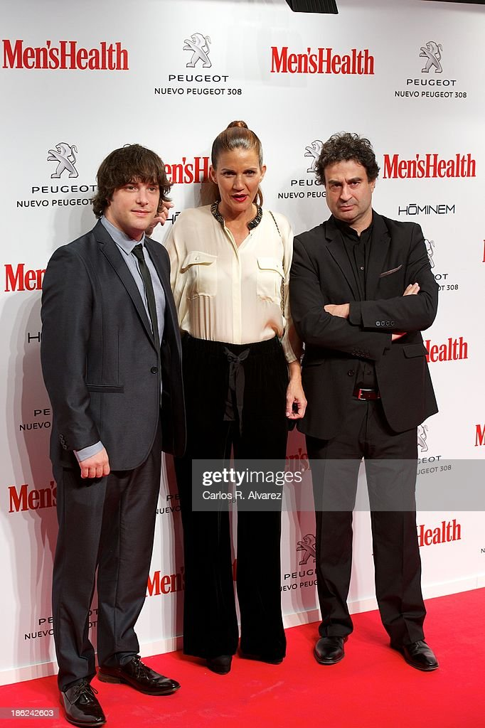 Jordi Cruz, Samantha Vallejo Najera and Spanish chef Pepe Rodriguez attend Men's Health Awards 2013 at the Canal Theater on October 29, 2013 in Madrid, Spain.
