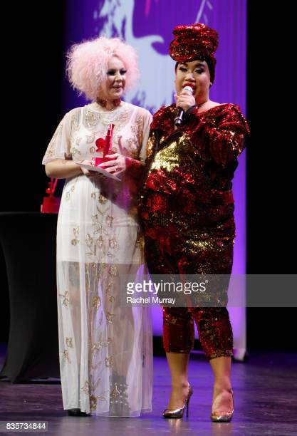 Jordi Dreher and Patrick Starrr at the 2017 NYX Professional Makeup FACE Awards at The Shrine Auditorium on August 19 2017 in Los Angeles California