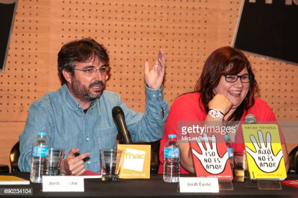 Jordi Evole and Marina Marroqui attend 'Eso No Es Amor' 'That's not Love' book presentation at the Fnac Triangle on May 30 2017 in Barcelona Spain