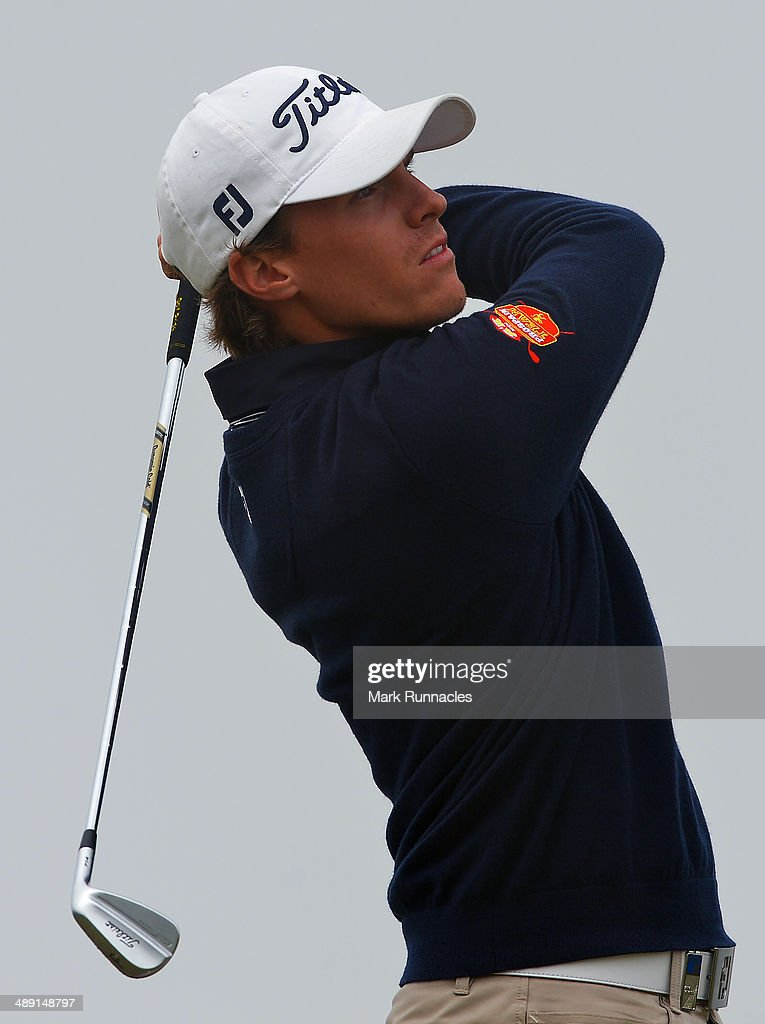 Jordi Garcia Pinto of Portugal plays his tee shot to the 15th during the Madeira Islands Open - Portugal - BPI at Club de Golf do Santo da Serra on May 10, 2014 in Funchal, Madeira, Port gal.