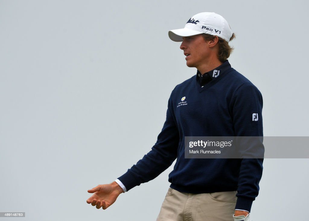 Jordi Garcia Pinto of Portugal reacts during the Madeira Islands Open - Portugal - BPI at Club de Golf do Santo da Serra on May 10, 2014 in Funchal, Madeira, Port gal.