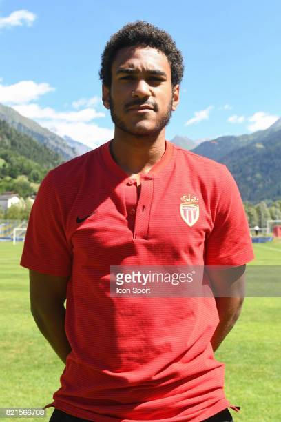 Jordi Mboula during the friendly match between As Monaco and PSV Eindhoven on July 16 2017 in Le Chable Switzerland