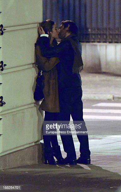 Jordi Molla and his girlfriend are seen on November 1 2012 in Madrid Spain