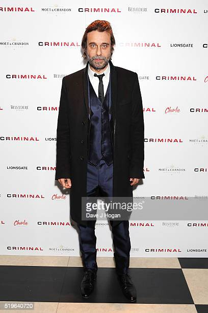 Jordi Molla attends an after party for the UK premiere of 'Criminal' at on April 7 2016 in London England