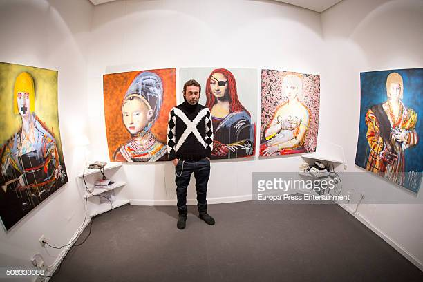 Jordi Molla attends his painting exhibition on January 21 2016 in Madrid Spain