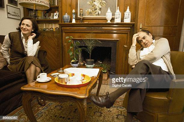 Jordi Pujol and Marta Ferrusola at home The CiU politician and his wife taking a coffee in their living room
