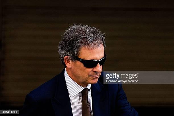 Jordi Pujol Ferrusola son of former Catalan leader Jordi Pujol leaves the Spain's National Court after appearing before judge Pablo Ruz on September...
