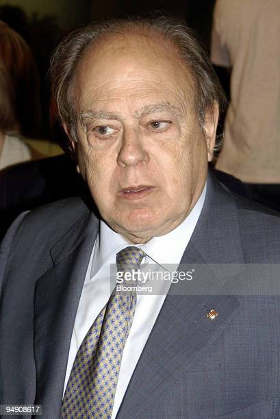 Jordi Pujol leader of the Convergence and Union coalition in Spain speaks at the 'Circulo de Economia' congress in Sitges Spain Friday June 18 2004...