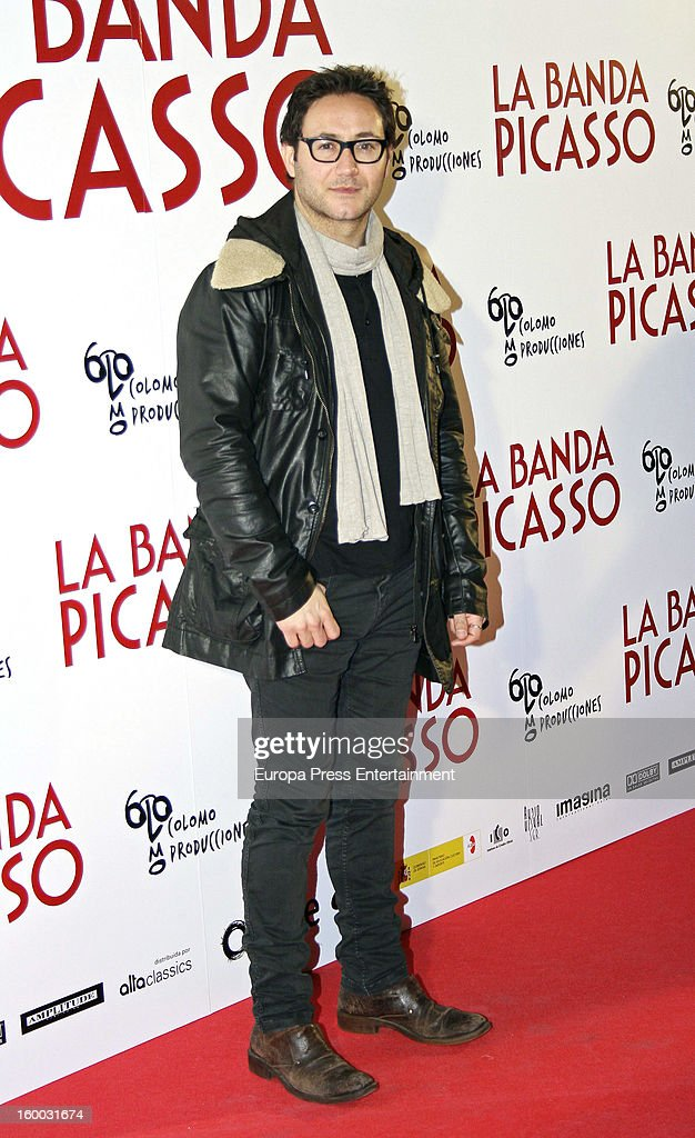 Jordi Sanchez attends 'La Banda Picasso' premiere on January 24, 2013 in Madrid, Spain.