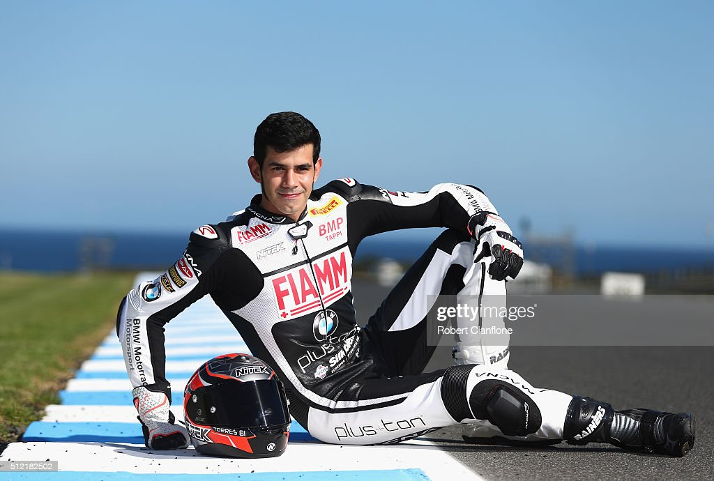 <a gi-track='captionPersonalityLinkClicked' href=/galleries/search?phrase=Jordi+Torres&family=editorial&specificpeople=7852325 ng-click='$event.stopPropagation()'>Jordi Torres</a> of Spain and rider of the #81 Althea BMW Racing Team BMW poses during previews for round one of the 2016 World Superbike Championship at Phillip Island Grand Prix Circuit on February 25, 2016 in Phillip Island, Australia.