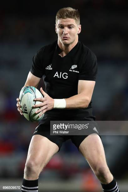Jordie Barrett of the All Blacks on debut during the International Test match between the New Zealand All Blacks and Samoa at Eden Park on June 16...