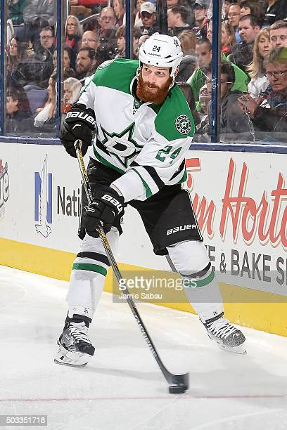 Jordie Benn of the Dallas Stars against the Columbus Blue Jackets on December 29 2015 at Nationwide Arena in Columbus Ohio