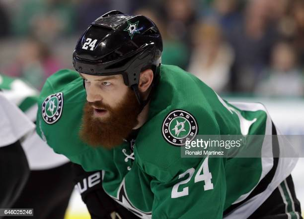 Jordie Benn of the Dallas Stars at American Airlines Center on February 26 2017 in Dallas Texas