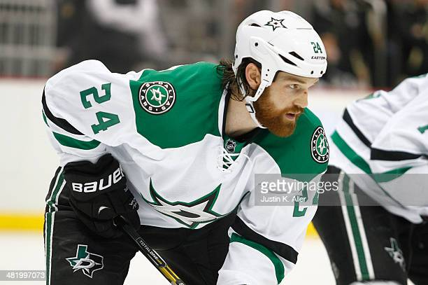 Jordie Benn of the Dallas Stars skates against the Pittsburgh Penguins during the game at Consol Energy Center on March 18 2014 in Pittsburgh...