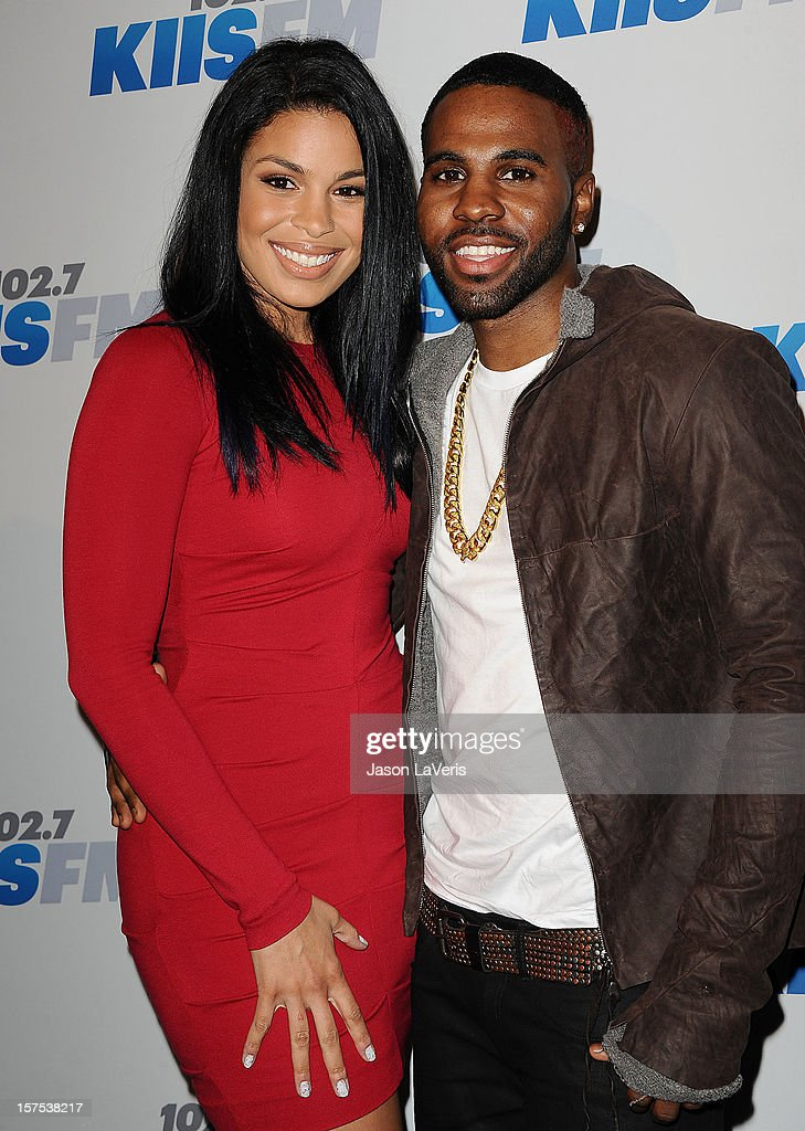 Jordin Sparks and Jason Derulo attend KIIS FM's Jingle Ball 2012 at Nokia Theatre LA Live on December 3, 2012 in Los Angeles, California.