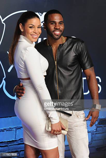 Jordin Sparks and Jason Derulo attend the 2013 MTV Video Music Awards at the Barclays Center on August 25 2013 in the Brooklyn borough of New York...