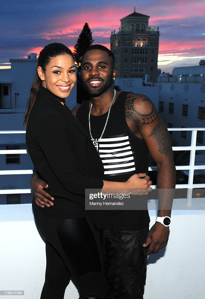 Jordin Sparks and Jason Derulo attend the CIROC Amaretto Launch Event at Dream Hotel South Beach on August 27, 2013 in Miami, Florida.