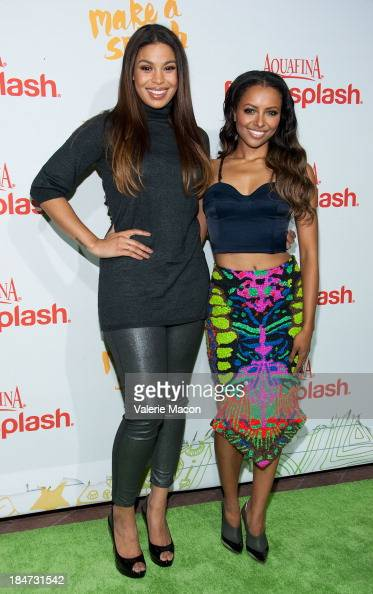 Jordin Sparks and Kat Graham arrives at Aquafina FlavorSplash Launch Party With Austin Mahone Nick Cannon at Sony Pictures Studios on October 15 2013...