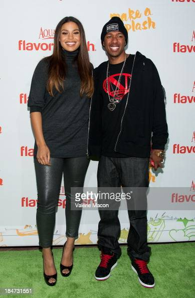 Jordin Sparks and Nick Cannon arrives at Aquafina FlavorSplash Launch Party With Austin Mahone Nick Cannon at Sony Pictures Studios on October 15...