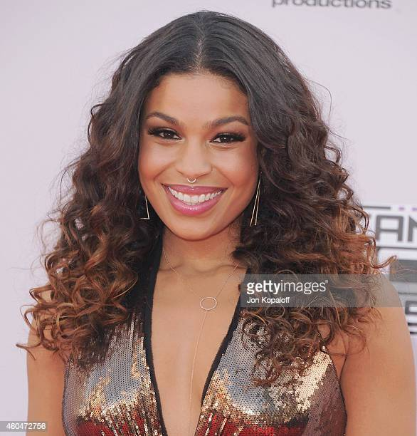 Jordin Sparks arrives at the 2014 American Music Awards at Nokia Theatre LA Live on November 23 2014 in Los Angeles California