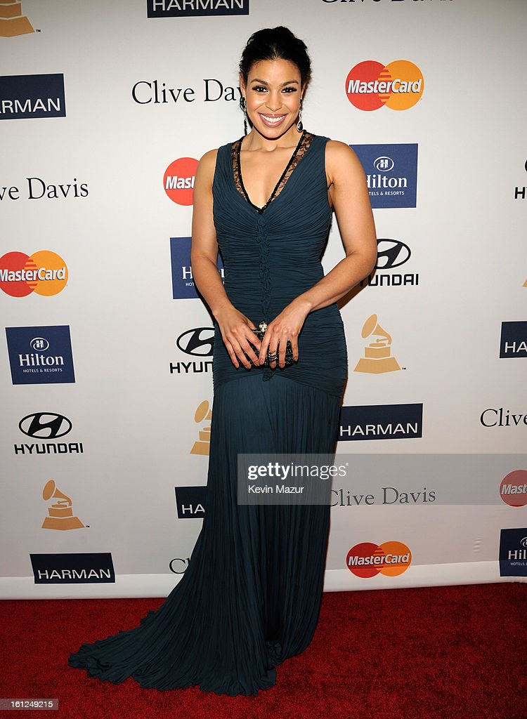 Jordin Sparks arrives at the 55th Annual GRAMMY Awards Pre-GRAMMY Gala and Salute to Industry Icons honoring L.A. Reid held at The Beverly Hilton on February 9, 2013 in Los Angeles, California.