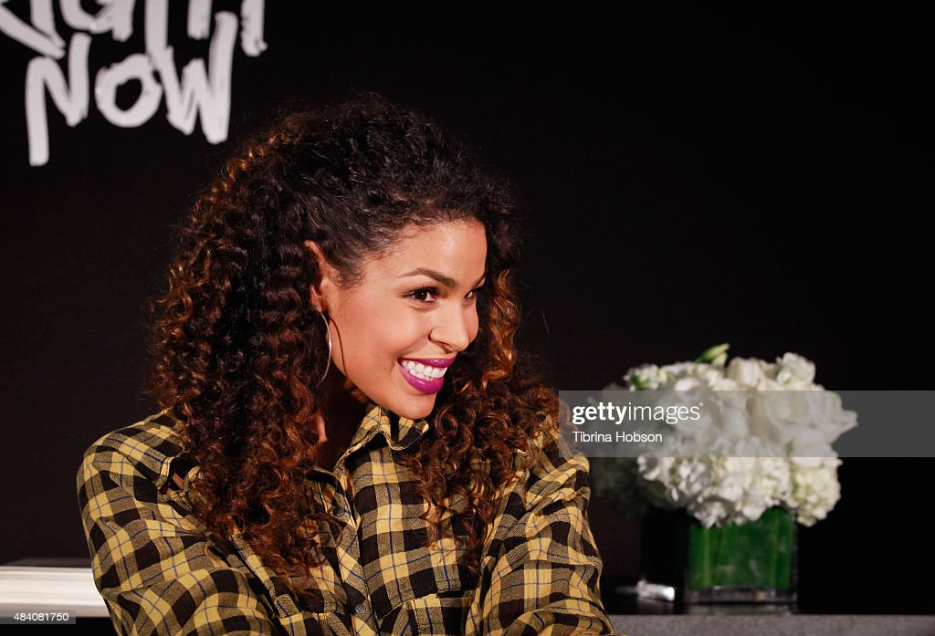 Jordin Sparks attends a fan meet and greet to celebrate her new album 'Right Here, Right Now' at Glendale Galleria on August 14, 2015 in Glendale, California.
