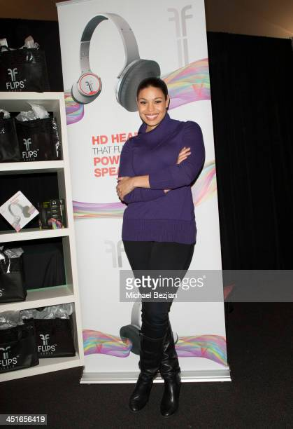 Jordin Sparks attends Flips Audio Headphones Sponsors the Official Artist Gift Lounge Cumulus Radio Row At the American Music Awards Day 2 on...