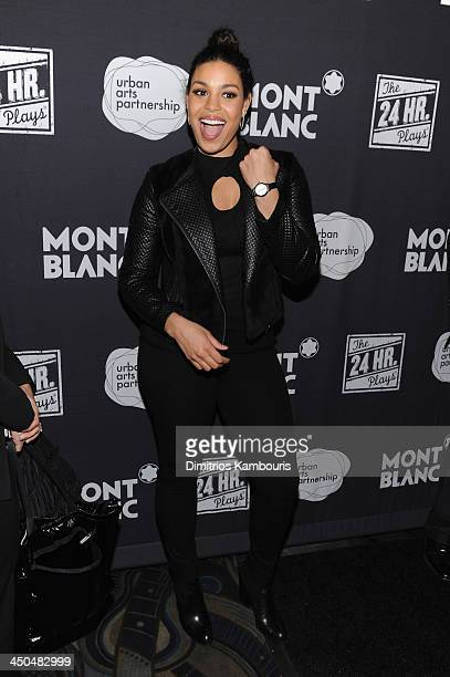 Jordin Sparks attends Montblanc Presents The 13th Annual 24 Hour Plays On Broadway After Party at BB King Blues Club Grill on November 18 2013 in New...