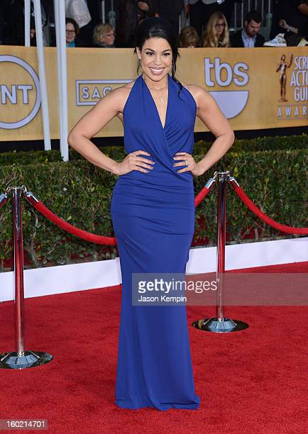 Jordin Sparks attends the 19th Annual Screen Actors Guild Awards at The Shrine Auditorium on January 27 2013 in Los Angeles California