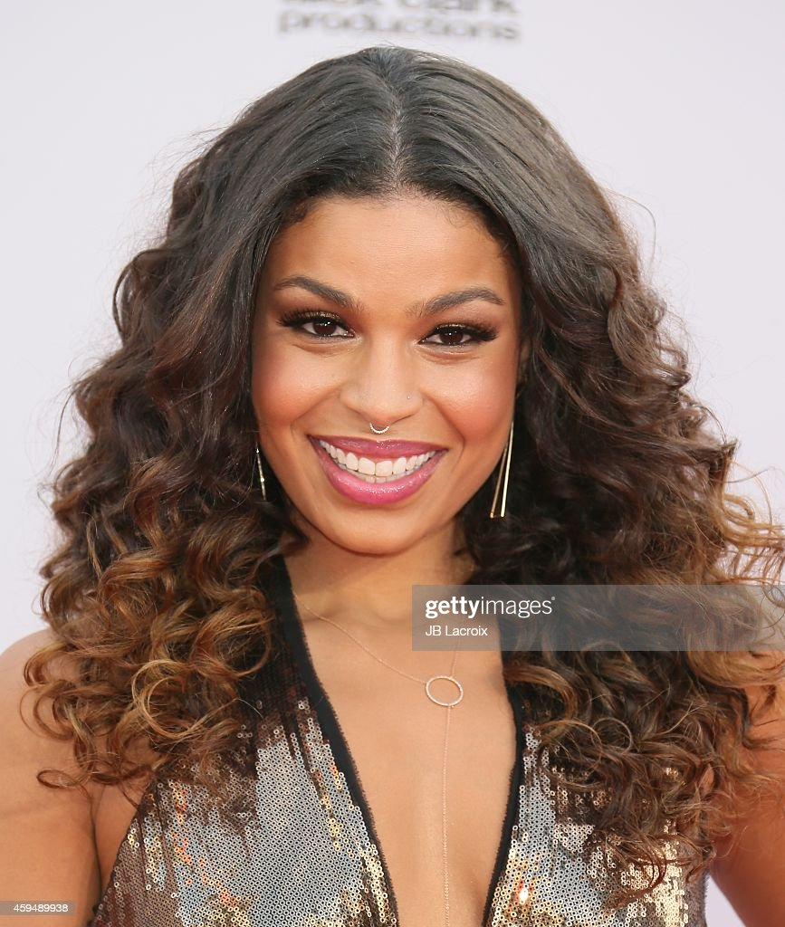 Jordin Sparks attends the 2014 American Music Awards at Nokia Theatre ...