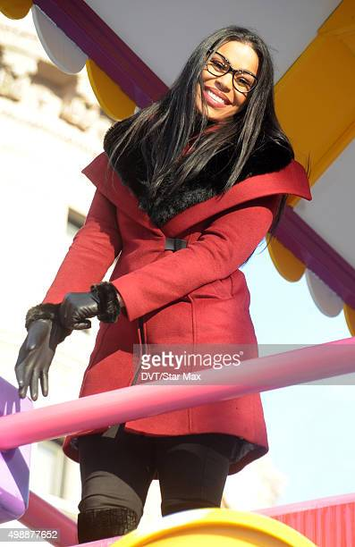 Jordin Sparks is seen at The MACY's Thanksgiving Day Parade on November 26 2015 in New York City
