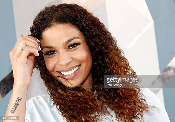 Jordin Sparks poses for a photo backstage at PBS's 2014 A CAPITOL FOURTH rehearsals at US Capitol West Lawn on July 3 2014 in Washington DC