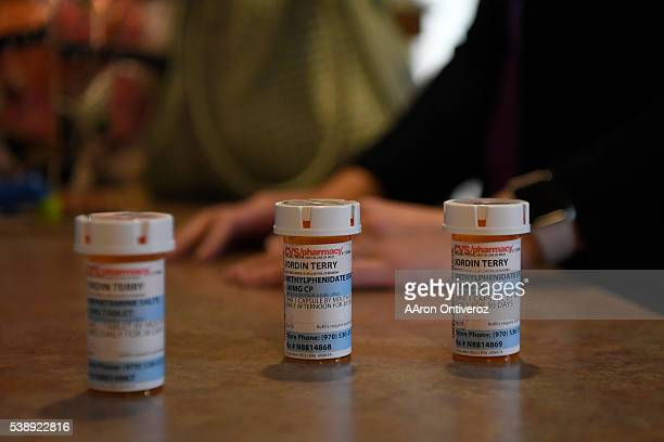 Jordin Terry's daily medicines are laid out on the counter after taking them on Wednesday June 8 2016 Terry Suffers from idiopathic hypersomnia which...