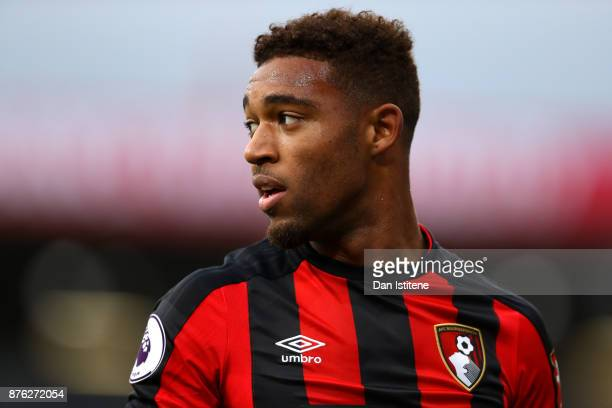 Jordon Ibe of Bournemouth looks on during the Premier League match between AFC Bournemouth and Huddersfield Town at Vitality Stadium on November 18...