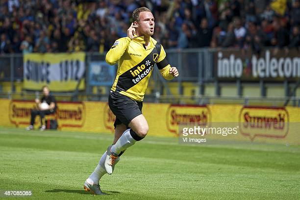Jordy Buijs of NAC Breda during the Dutch Eredivisie match between NAC Breda and RKC Waalwijk at Rat Verlegh stadium on April 27 2014 in Breda The...