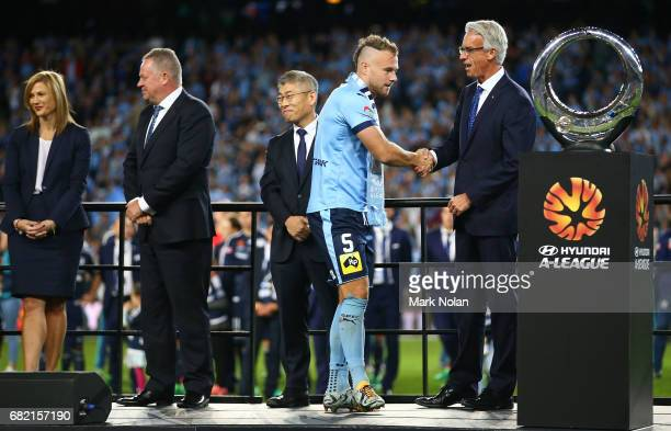 Jordy Buijs of Sydney FC after the 2017 ALeague Grand Final match between Sydney FC and the Melbourne Victory at Allianz Stadium on May 7 2017 in...