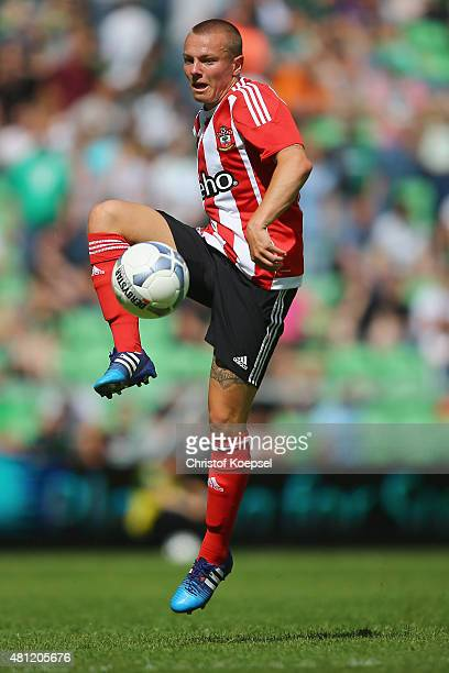 Jordy Clasie of FC Southampton runs with the ball during the friendly match between FC Groningen and FC Southampton at Euroborg Arena on July 18 2015...