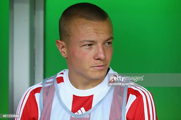 Jordy Clasie of FC Southampton sits on the bench during the friendly match between FC Groningen and FC Southampton at Euroborg Arena on July 18 2015...