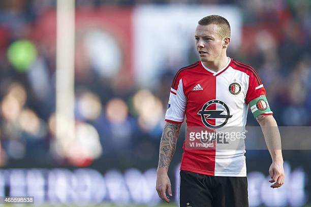 Jordy Clasie of Feyenoord during the Dutch Eredivisie match between Feyenoord and NAC Breda at the Kuip on March 8 2015 in Rotterdam The Netherlands