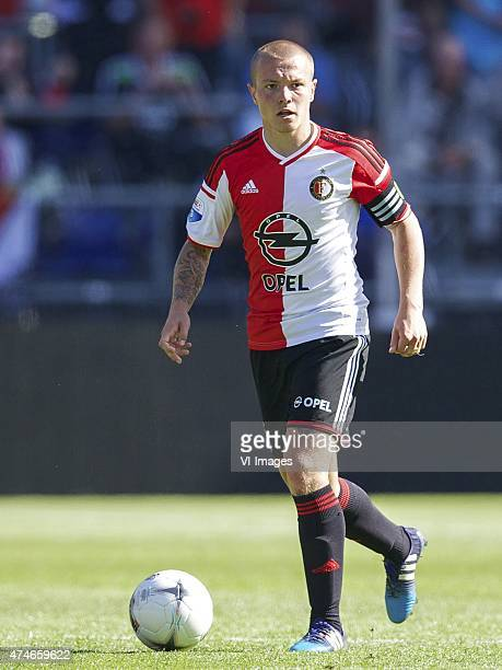 Jordy Clasie of Feyenoord during the Europa League playoffs match between Feyenoord and SC Heerenveen at the Kuip on May 24 2015 in Rotterdam The...