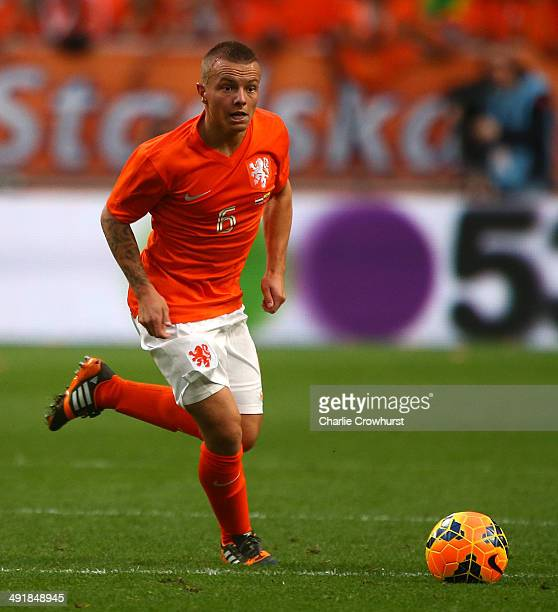 Jordy Clasie of Holland attacks during the International Friendly match between The Netherlands and Ecuador at The Amsterdam Arena on May 17 2014 in...