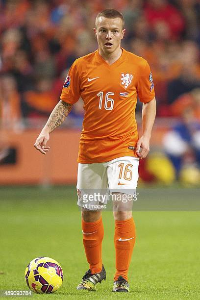 Jordy Clasie of Holland during the match between Netherlands and Latvia on November 16 2014 at the Amsterdam Arena in Amsterdam The Netherlands