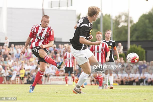 Jordy Clasie of Southampton Cas Koopman of Quick'20 during the preseason friendly match between Quick 20 and Southampton FC on July 21 2016 in...