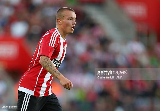 Jordy Clasie of Southampton during the UEFA Europa League Qualifier between Southampton and Vitesse at St Mary's Stadium on July 30 2015 in...