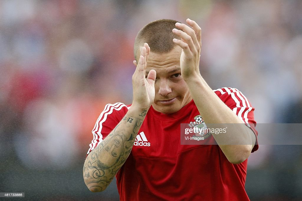 <a gi-track='captionPersonalityLinkClicked' href=/galleries/search?phrase=Jordy+Clasie&family=editorial&specificpeople=7012011 ng-click='$event.stopPropagation()'>Jordy Clasie</a> of Southampton FC during the pre-season friendly match between Feyenoord and Southampton FC on July 23, 2015 at the Kuip stadium in Rotterdam, The Netherlands.