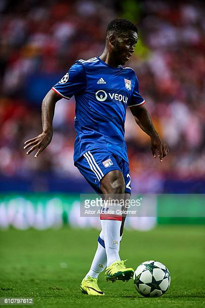 Jordy Gaspar of Olympique Lyonnais in action during the UEFA Champions League match between Sevilla FC and Olympique Lyonnais at Sanchez Pizjuan...
