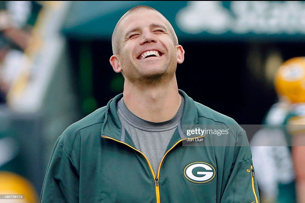 Jordy Nelson of the Green Bay Packers walks on the field during warmups before the game against the Philadelphia Eagles at Lambeau Field on August 29...