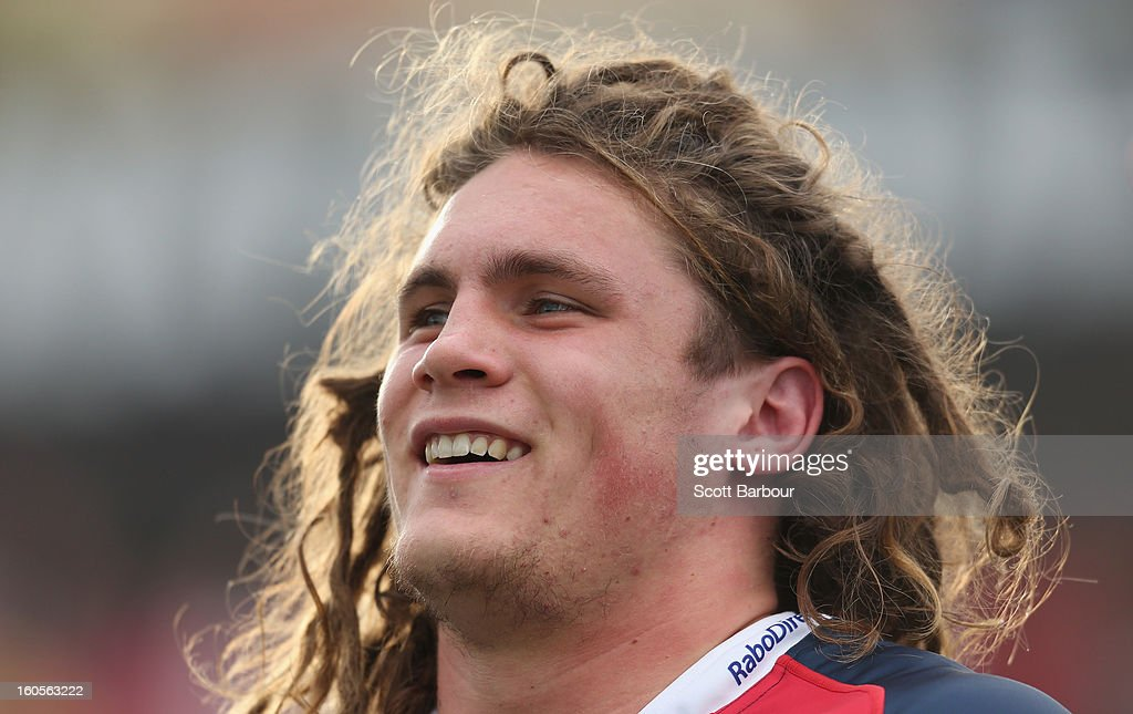Jordy Reid of the Rebels looks on during the Super Rugby trial match between the Waratahs and the Rebels at North Hobart Stadium on February 2, 2013 in Hobart, Australia.