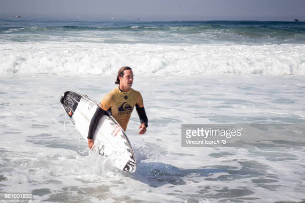 Jordy Smith from South Africa performs during the Quicksilver Pro France surf competition on October 13 2017 in Hossegor France The French stage of...